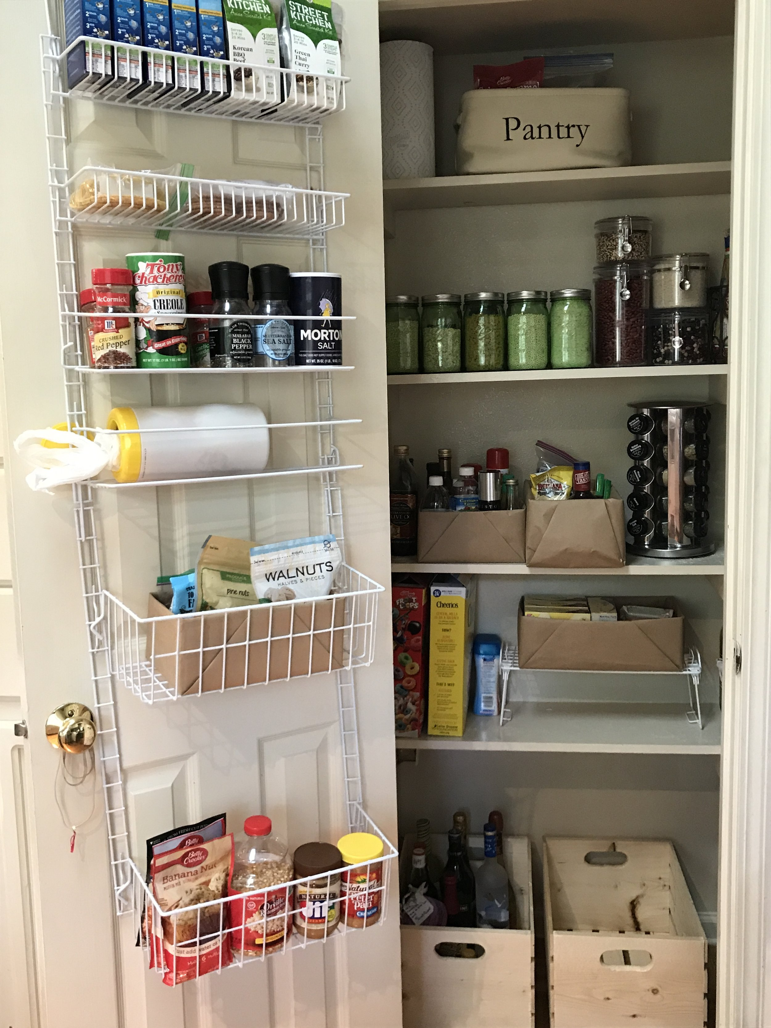 Gen's finished pantry after