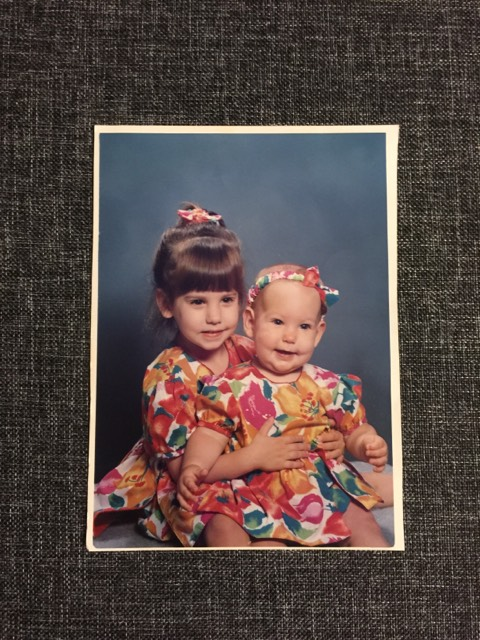 Mom made us matching outfits.  I'm pretty sure these would have been considered baby couture, circa 1993.