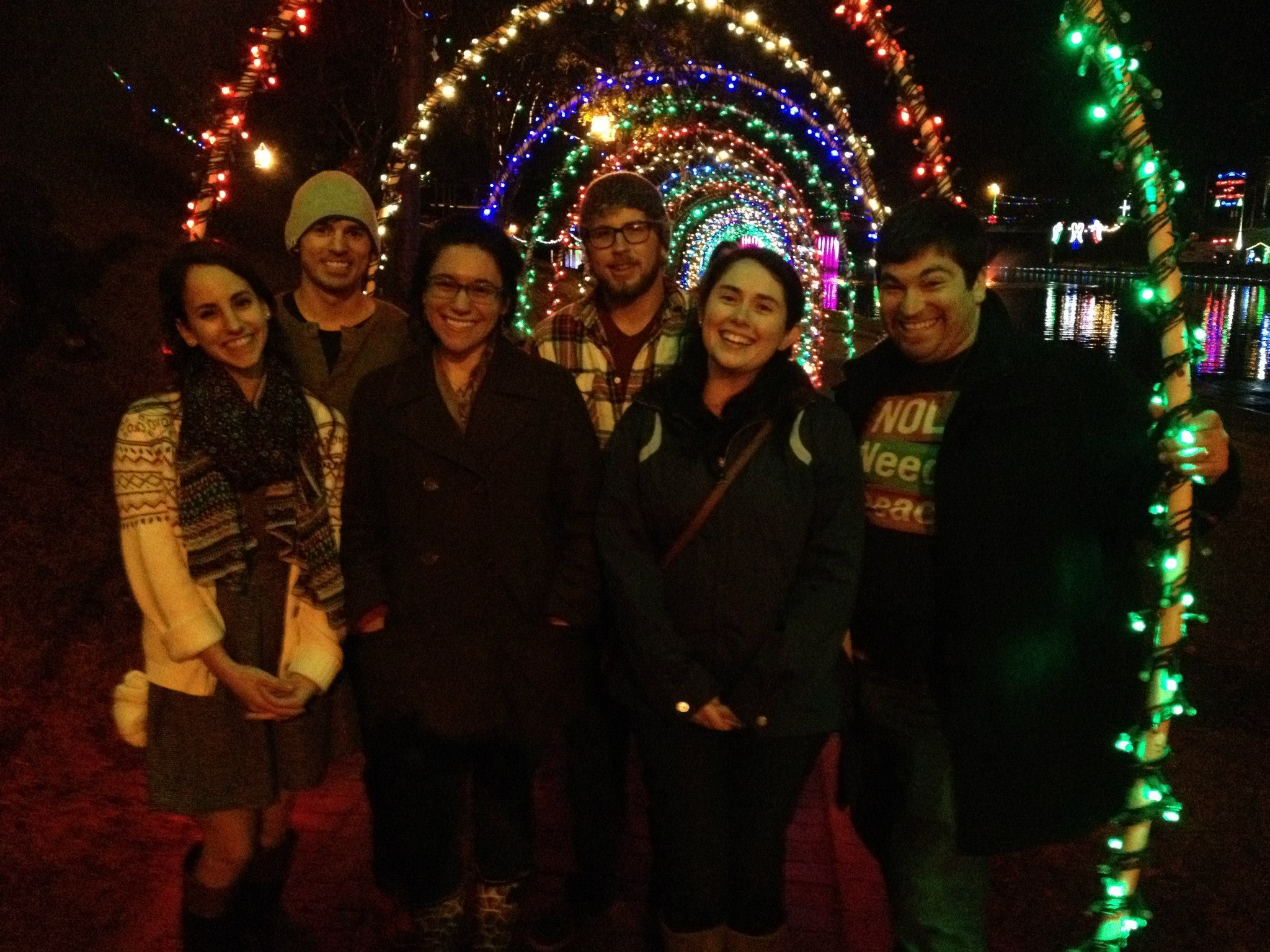 This is our group at the Christmas festival.  I am in the front on the left, and Dalton is in the back on the right.  Notice how he and I are not standing next to each other.