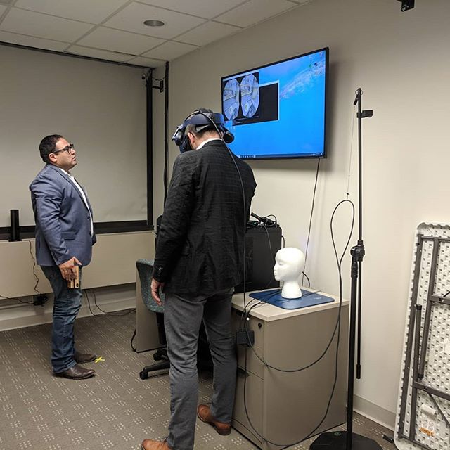 At NIH checking out one of their research labs where they're being very resourceful using #VR to educate #parents about different foods and portions that can help children be healthier, particularly children that come from a family history of types of #diabetes and other health problems.  #vrforgood #technology #nih #washingtondc