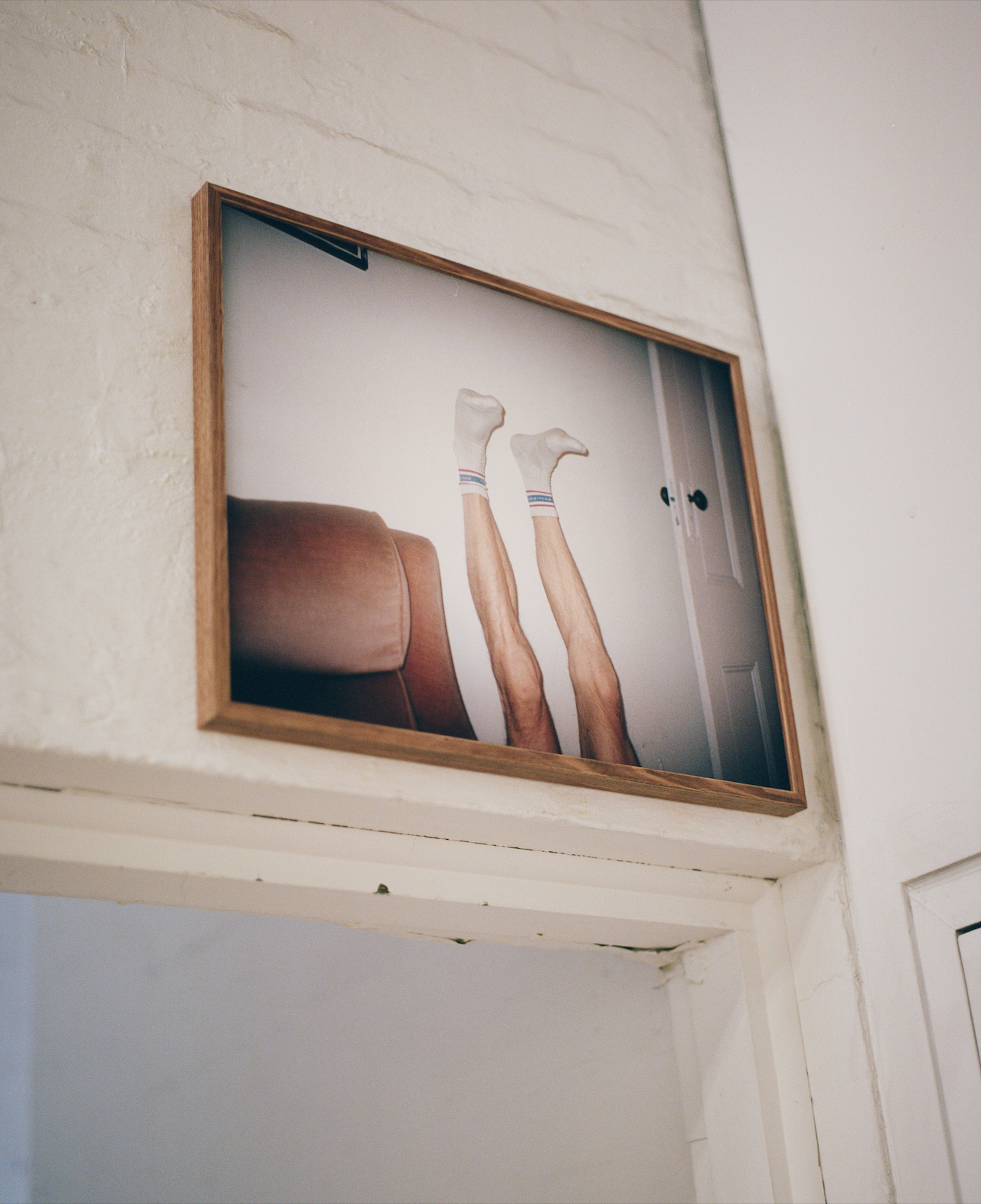 Just as you came    Installed throughout the photography stairwell at the Victorian College of the Arts.  Documentation of installation.   For You,      archival matte inkjet print mounted and framed within stained Tasmanian Oak, 44.5 cm x 55 cm, 2018.  Available to purchase at: https://timhardy.bigcartel.com.
