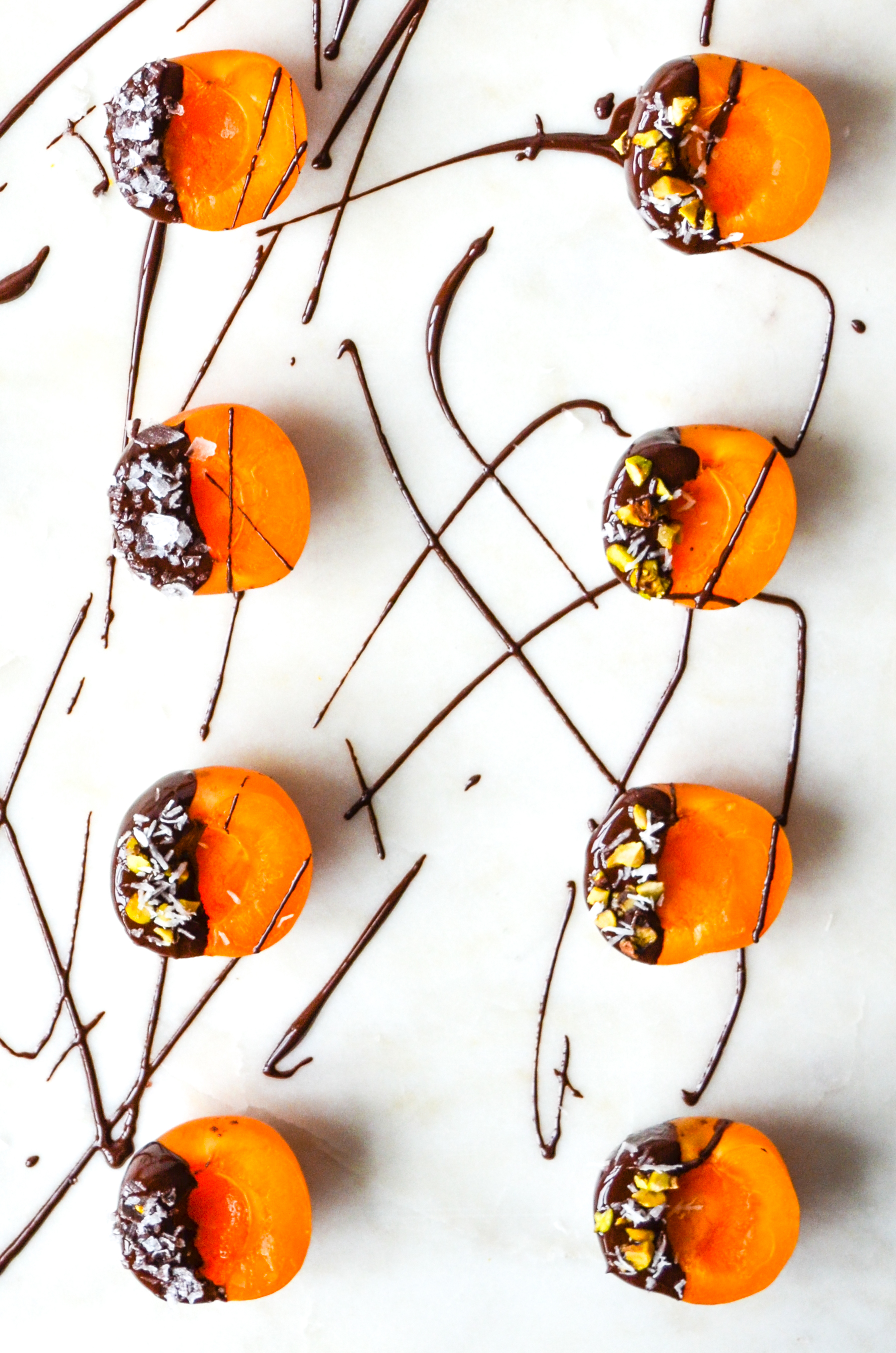 paleo chocolate covered apricots :: #OITNB ShiraRD #paleo #refinedsugarfree #SnacksbyShira #orangeisthenewblack