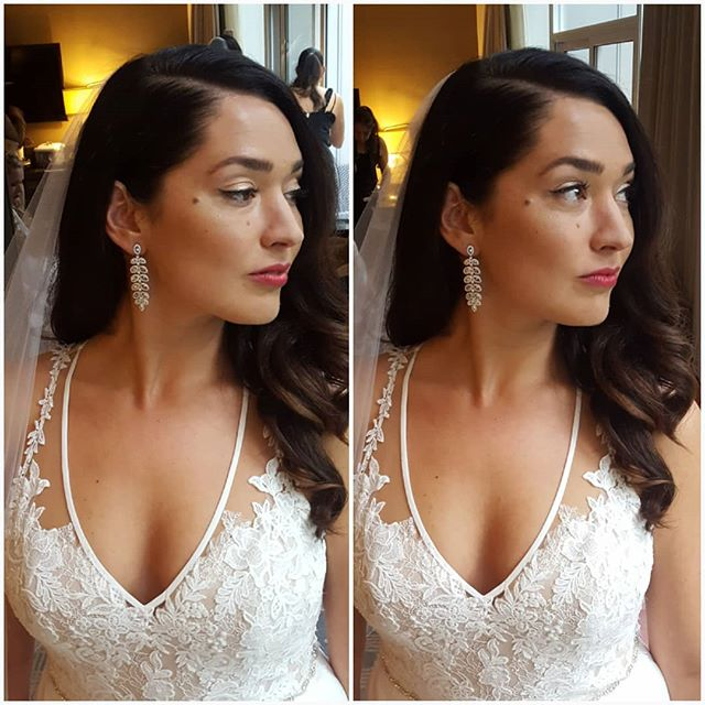 One of my gorgeous brides from last year, the lovely Christie 💕 makeup by me, hair by @hairbymichelleproctor  #bridalmakeup #vintageinspired #classic #beauty #redlips #brunette #makeupartist  #yvrmua #bride #gorgeous #makeupartistsworldwide  #bridal #weddingmakeupartist  #weddingmakeup
