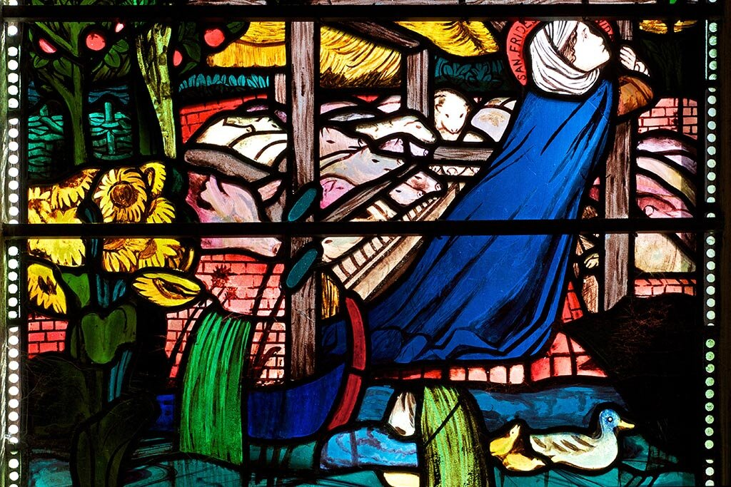 St Frideswide: Princess, Abbess, Woman of God (a detail from the Burne-Jones window at Christchurch Cathedral, Oxford)