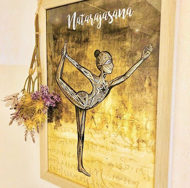 """Life is the dancer and you are the dance."" ⁠ ― Eckhart Tolle⁠ ⁠ Love seeing the different ways my prints are displayed across the world! This is my Natarajasana (Dancer) print in the beautiful Cocowell health and yoga salon in Kobe, Japan ❤️ 🇯🇵 ⁠ ⁠ ⁠ @cocowell_kobe #cocowellkobe #yogaart #EckhartTolle #EckhartTollequote #kobeyoga #yogaposeart #yogastudioart #spadecor #salondecor #yogastudiodecor #yogadecor #yogaillustration #yogainspiration #yogastyle #yogaartprints #yogawallart #dancerpose #natarajasana #yogadrawing #bespokeartwork #yogaartist #yogastudio"