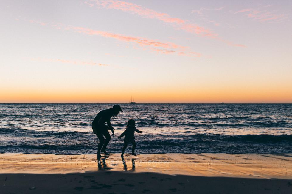 silhouette at a beach