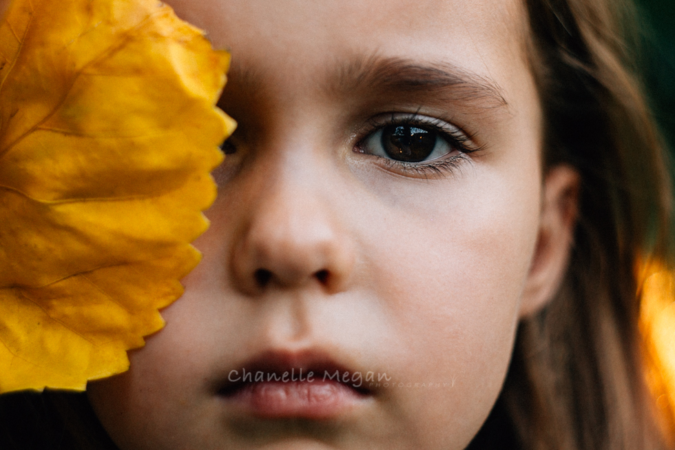 girl and yellow portrait