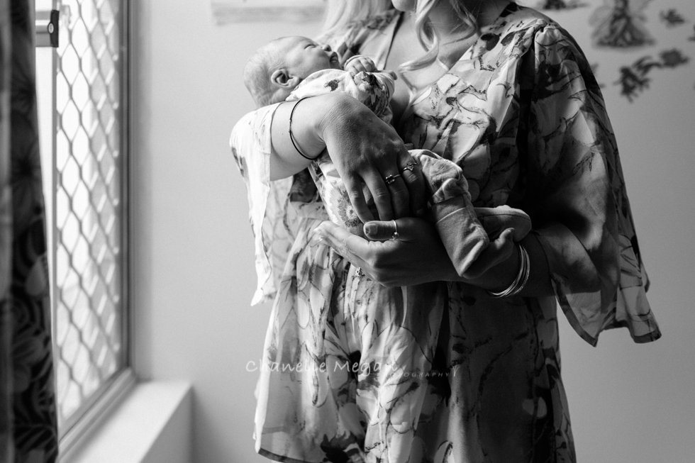 Tip 5 | Get in the Frame Mama. A window light Self portrait. 5 top tips for photographing your newborn by Chanelle Megan photography