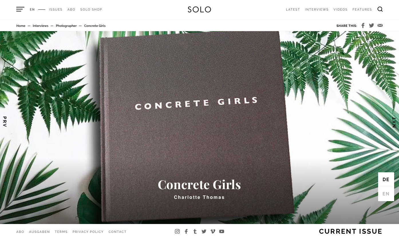 SOLO INTERVIEW X CONCRETE GIRLS -