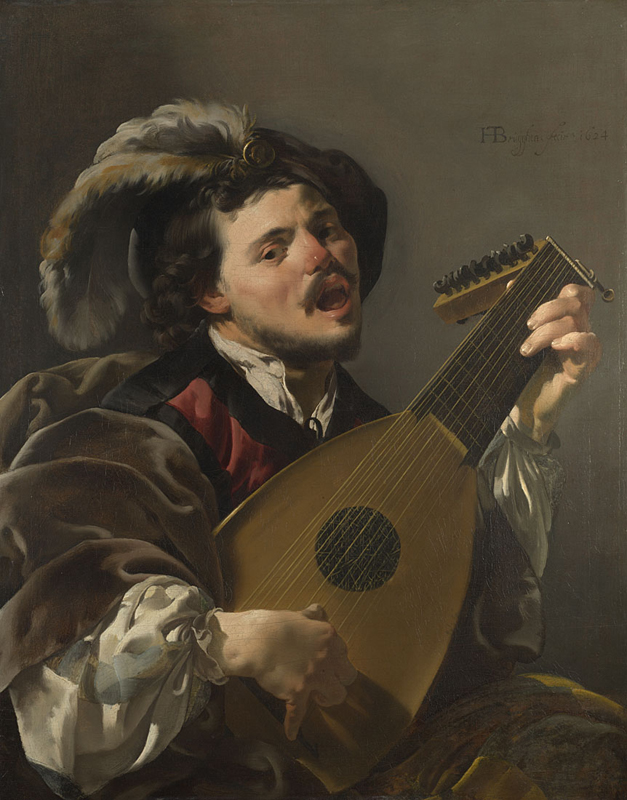 1624 Hendrick ter Brugghen - 'Man playing the Lute'