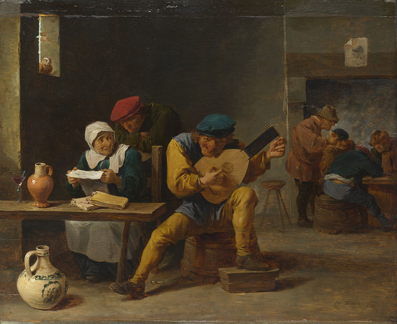 Peasants making Music in an Inn  about 1635, Studio of David Teniers the Younger.jpg