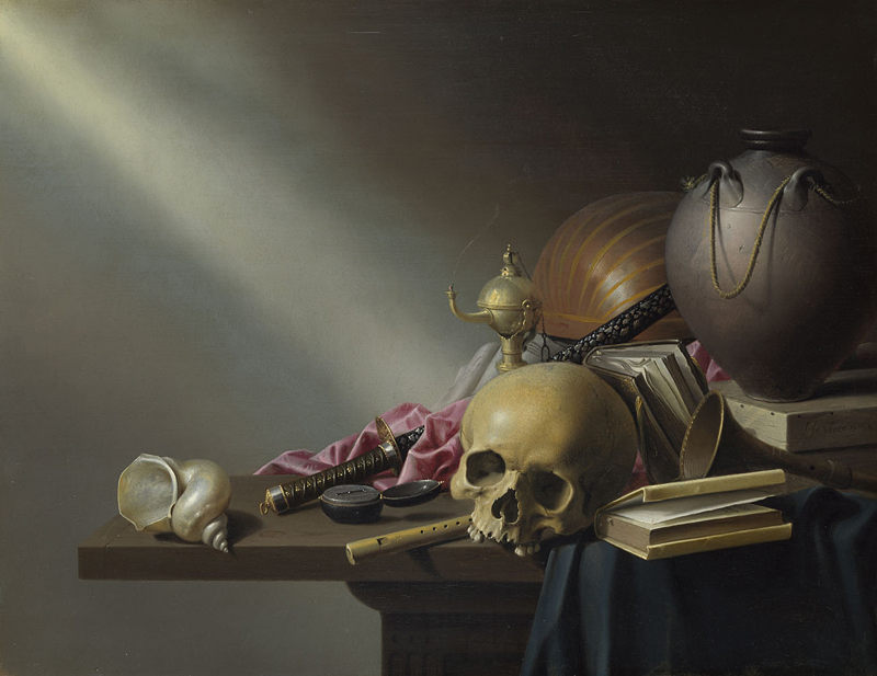 Still Life An Allegory of the Vanities of Human Life  about 1640 Harmen Steenwyck.jpg