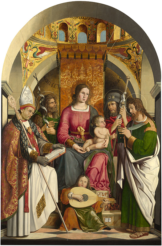The Virgin and Child with Saints  1507, Marco Marziale.jpg