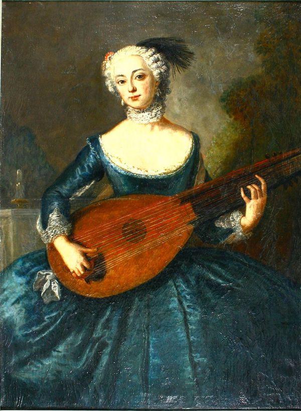 Kreis des Antoine Pesne - Porträt der Eleonore Freifrau von Keyserlingk, geb. Gräfin von Schlieben-Sanditten