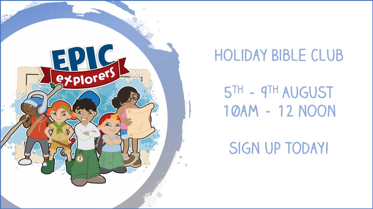 Come along and join us at The Holiday Bible Club at DCFC.  To sign up, click the image above.