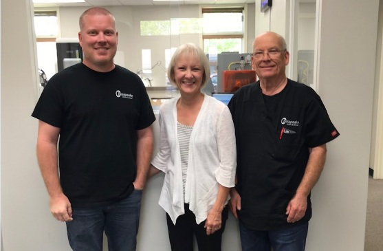 Brad, Pam and Tom Doherty, the Owners of Chesapeake Crown & Bridge
