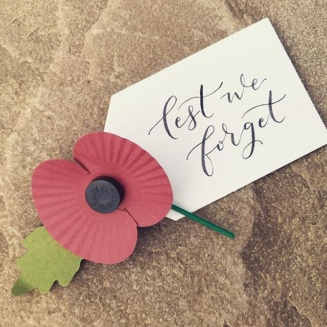 11.11 Lest we forget . . #lestweforget #poppyappeal