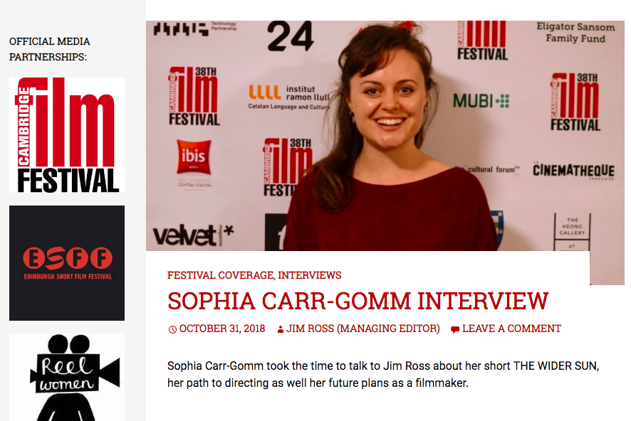 Interview with Take One Cinema Magazine