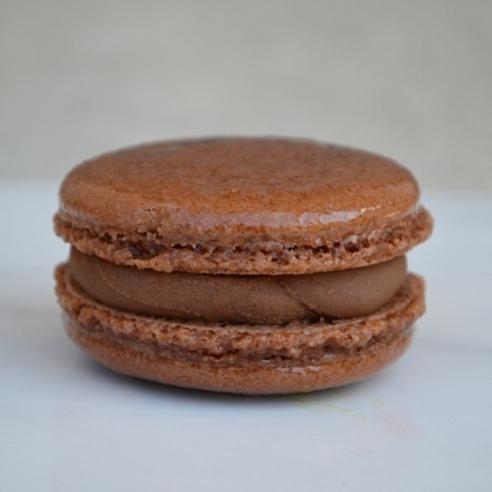 CHOCOLATE GANACHE: a dark-chocolate macaron with a smooth chocolate ganache filling. This macaron is gluten free.