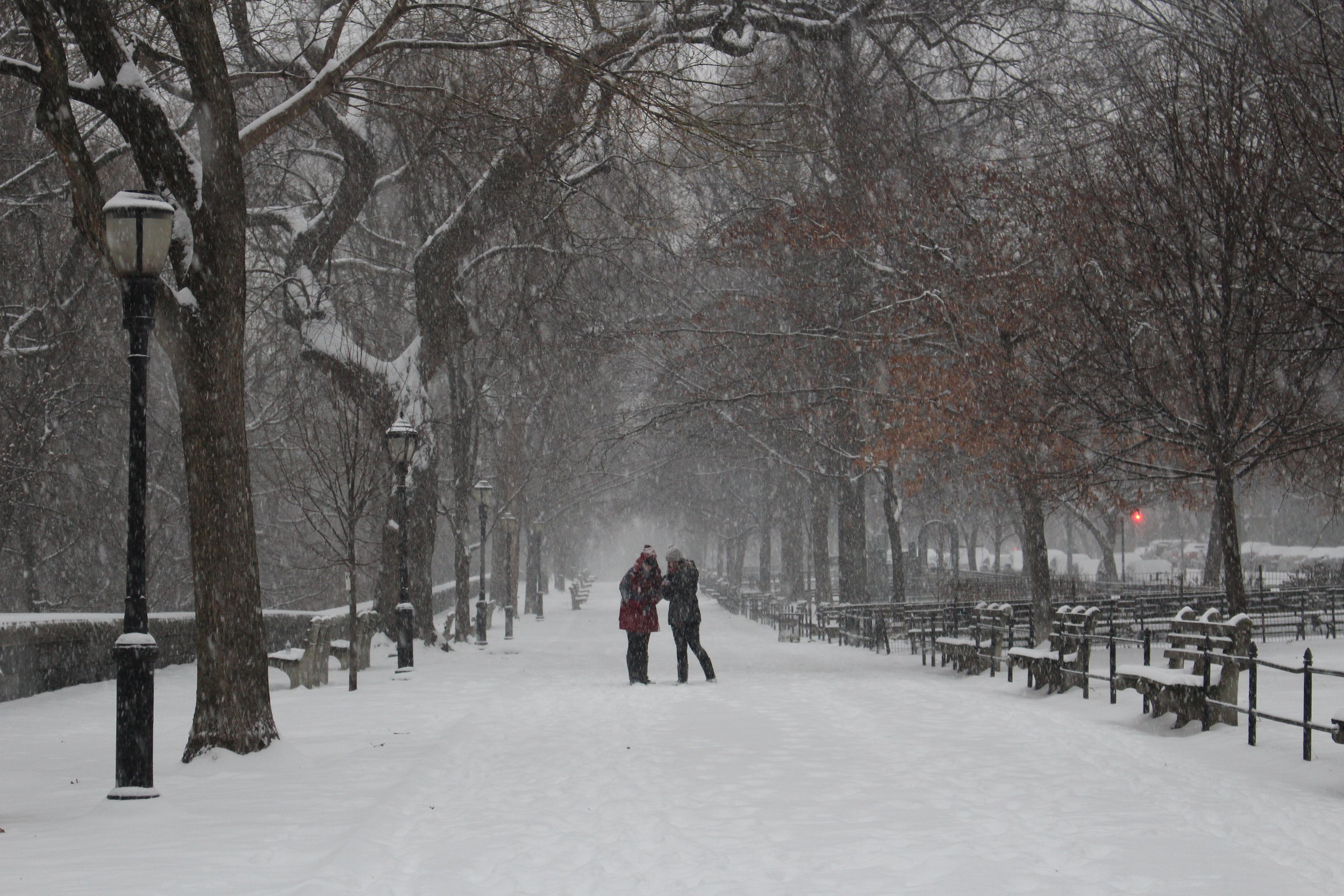 Let it snow! Riverside Park