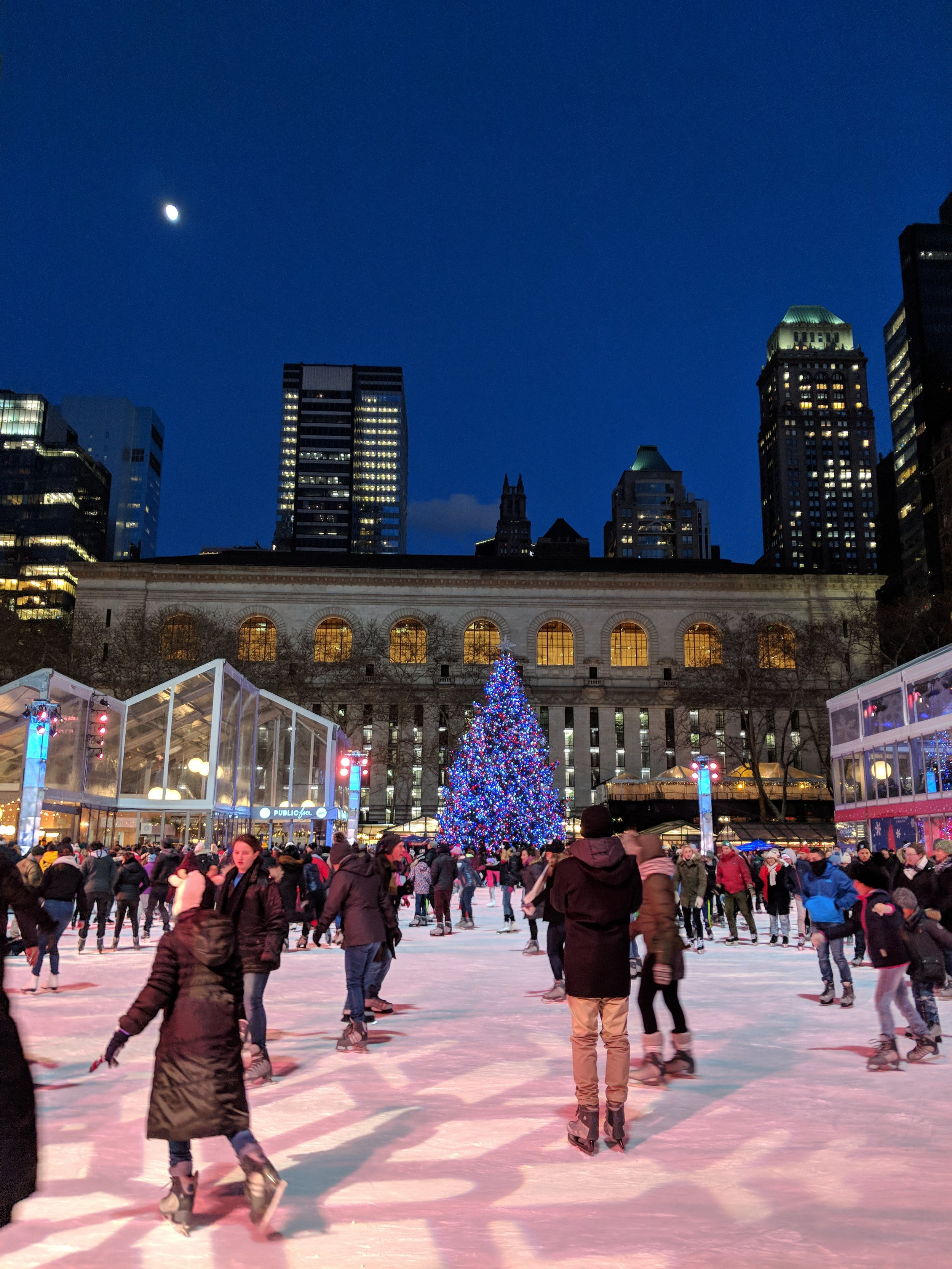 Bryant Park a few nights ago. Go check out my instagram page to see the frozen fountain...it's crazy!