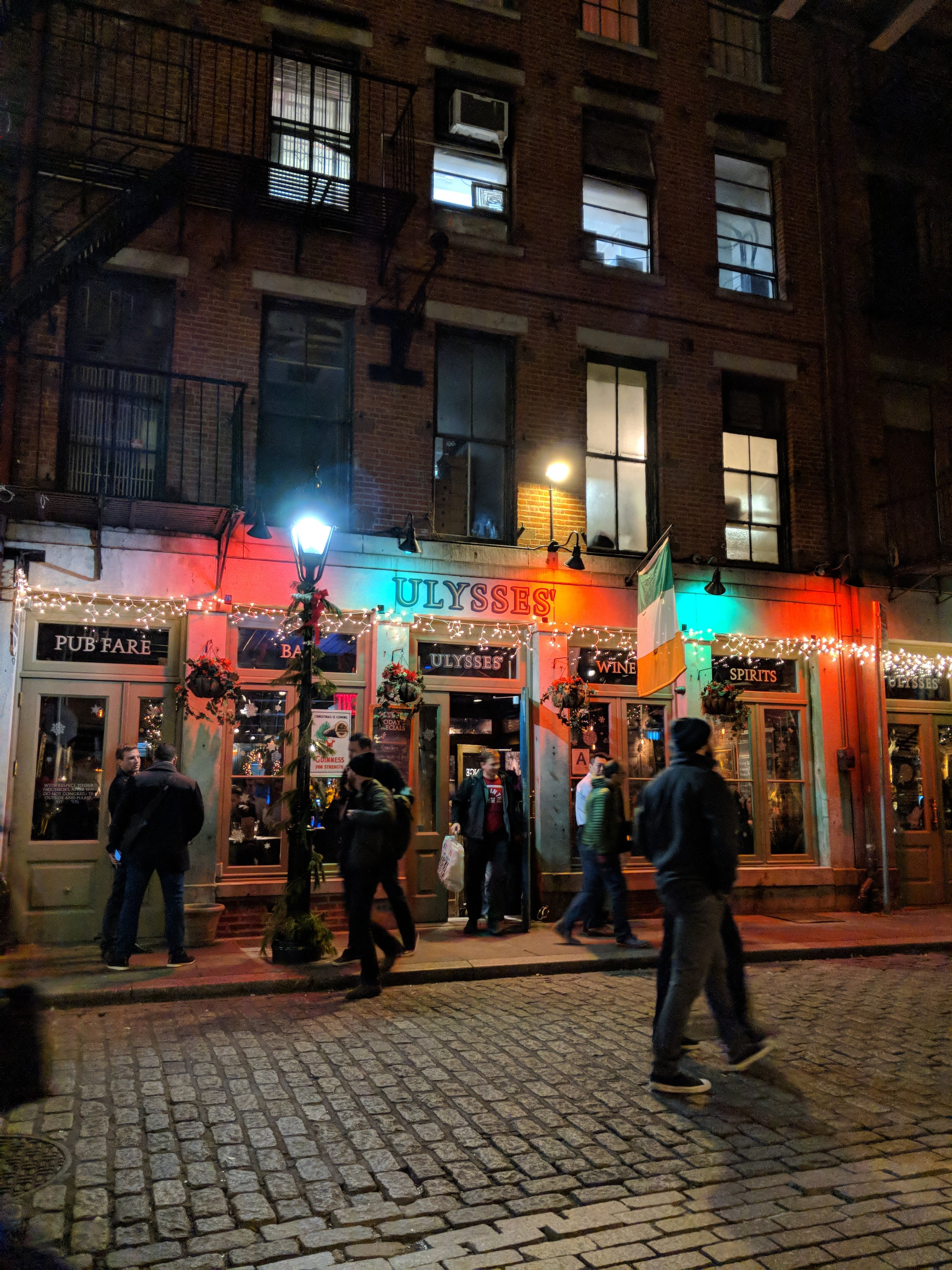 Stone Street...this bar has $18 lobster dinners with all the fixins on Monday nights!