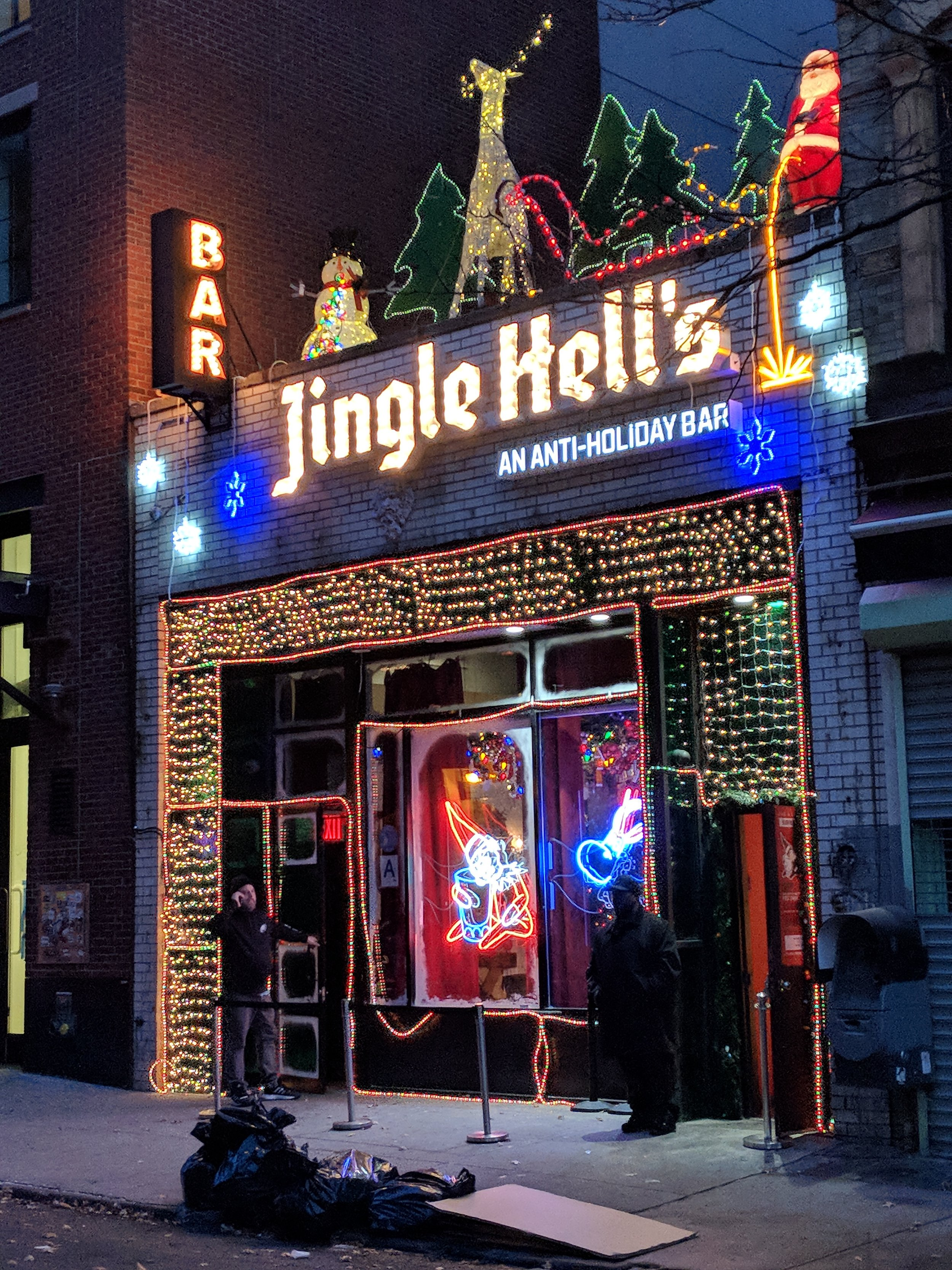 My favorite bar this season. Hilarious inside and out. Very creative.