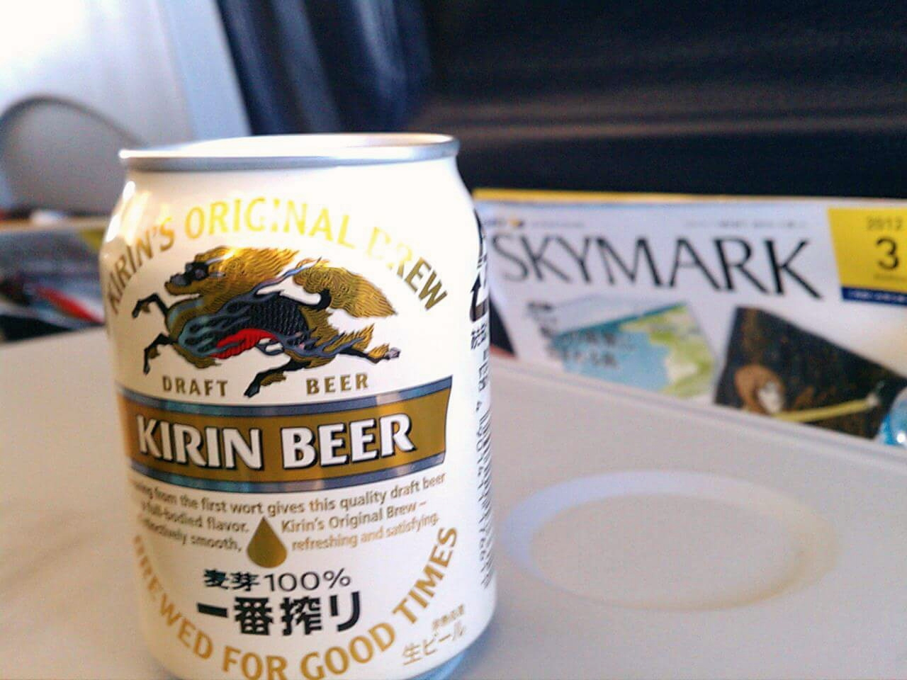 Skymark Airlines on my way to Okinawa. Definitely good times :)