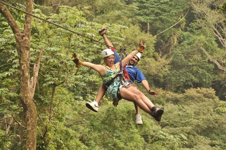 First and BEST zip line experience through the Costa Rican rain forest.