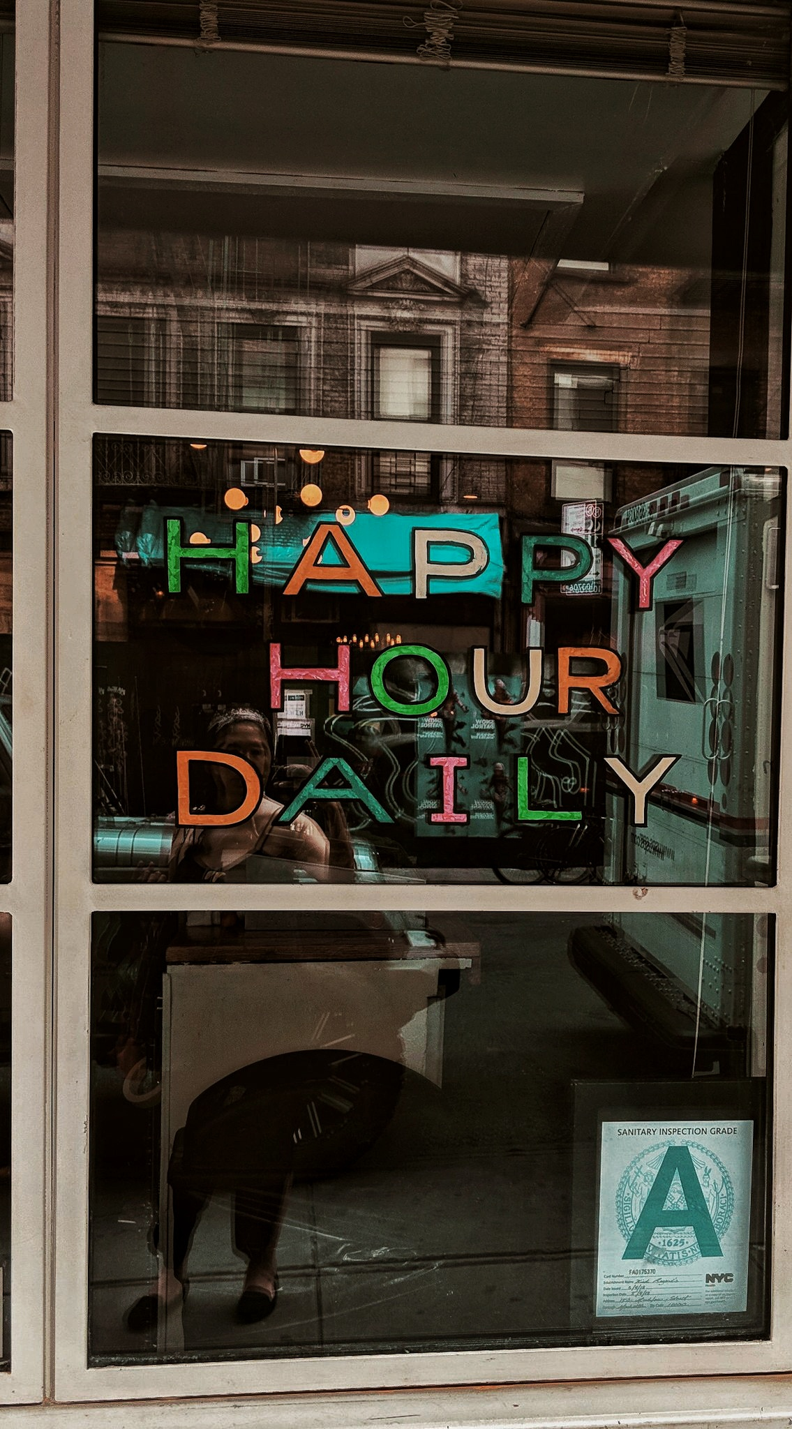 Yes, Happiness should be daily! Inframe   Kind Regards   in Lower East Side in Manhattan, NY. Highly recommend. $1 oysters All day, Everyday!!
