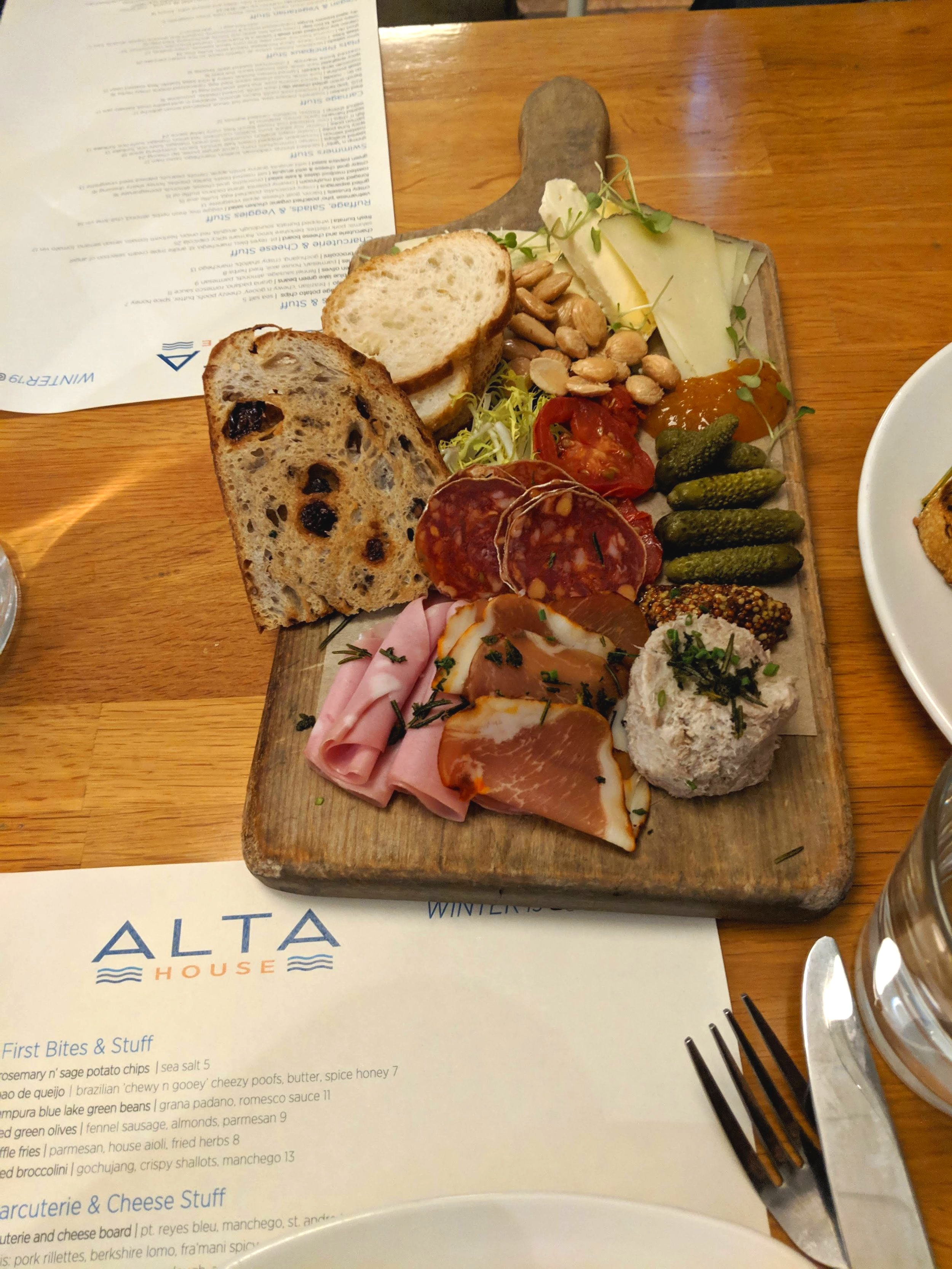 Alta House nibbles