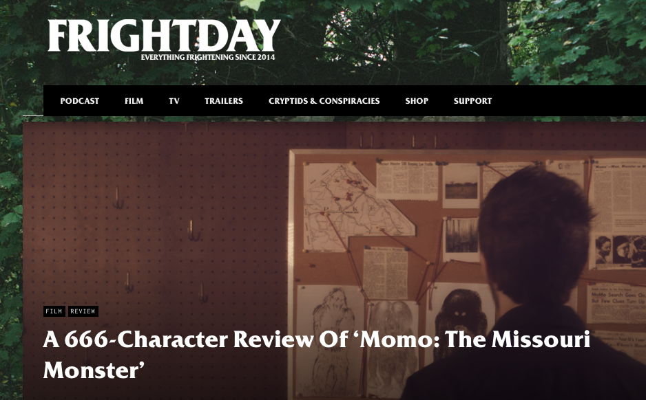 """Review: Frightday (8/19/19)   Frightday says Brandon's score for MOMO is """"…a notably emotive score""""."""