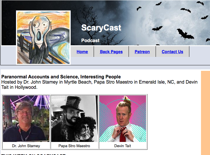 Interview: ScaryCast (5/16/19)   Brandon was interviewed about his music on the ScaryCast podcast.
