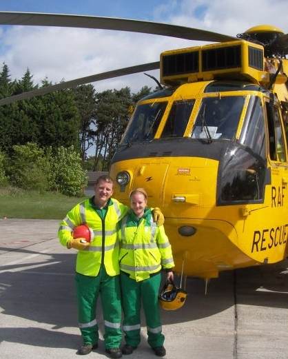 With Andrea on our Pre-Hospital Trauma Life Support course (PHTLS) 2010.