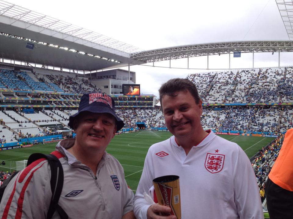 England V Uruguay.England's 2nd group game, Sao Paulo.