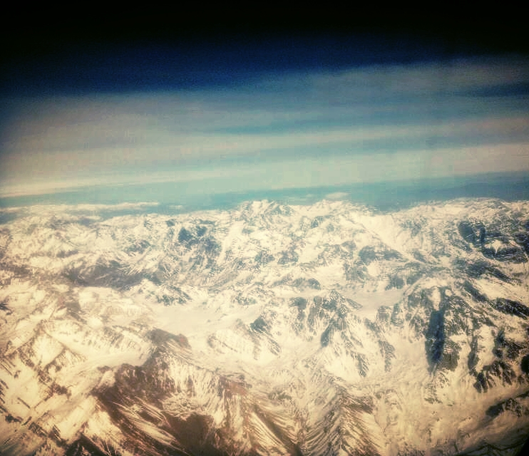 The Andes Mountains...