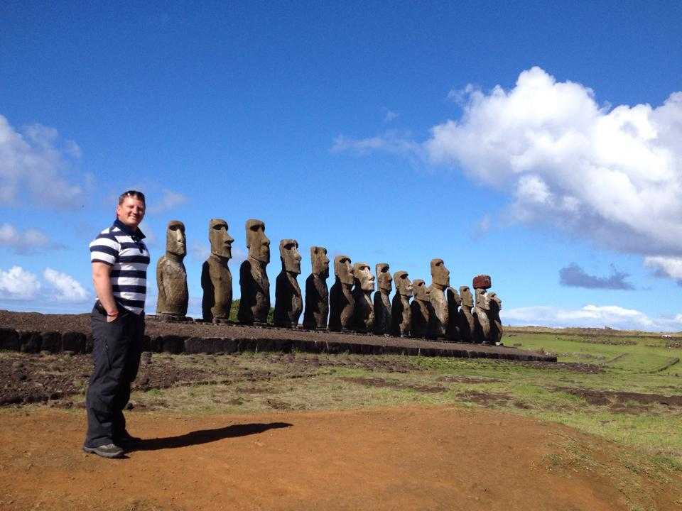 Now...is it me or is that Moai on the end looking at me??