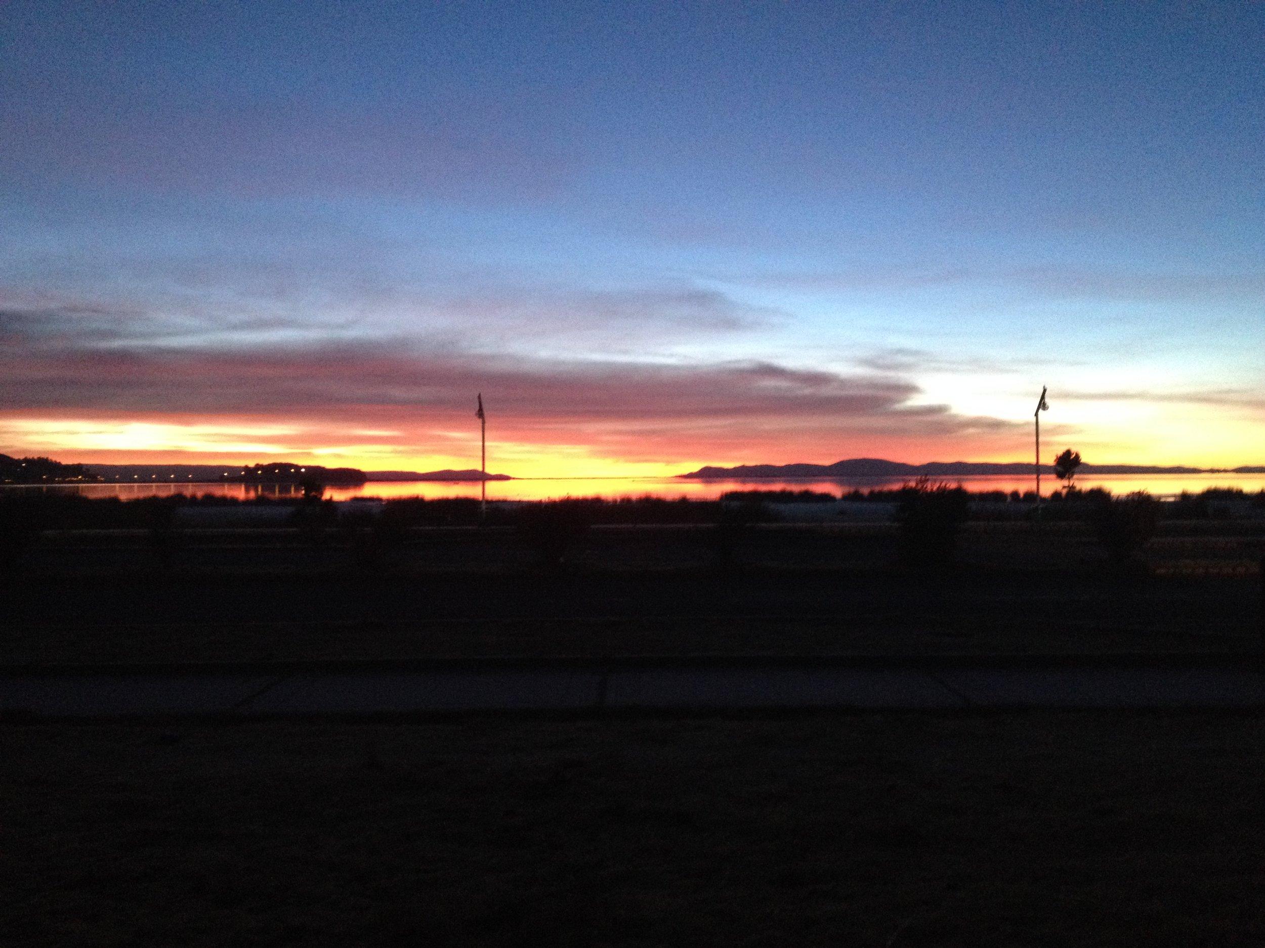 Lake Titicaca at Sunrise....was a magical sight