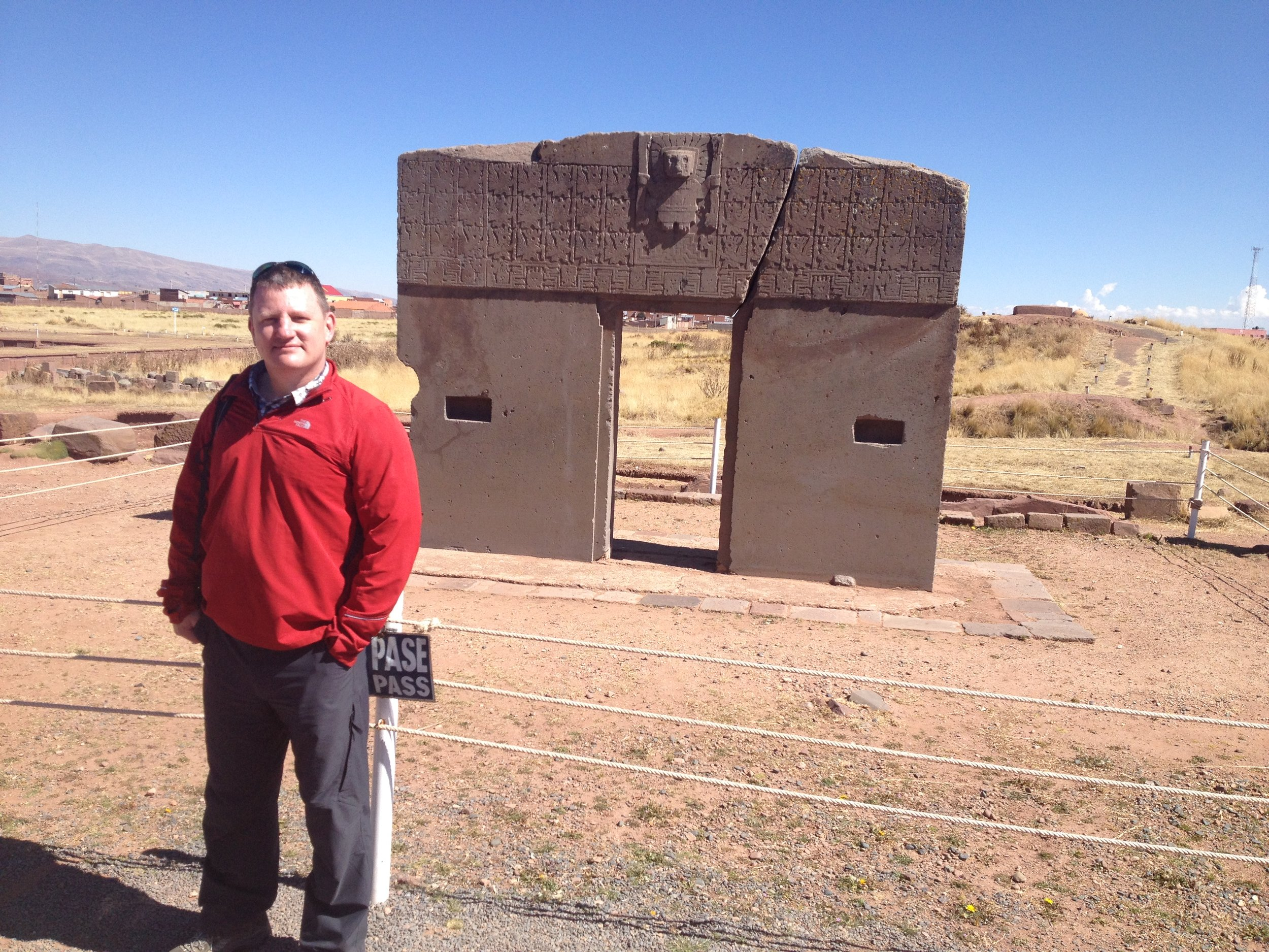'Gate of The Sun' at Tiwanaku. carved from a single block of stone.... was it really just hammers & Chisels??