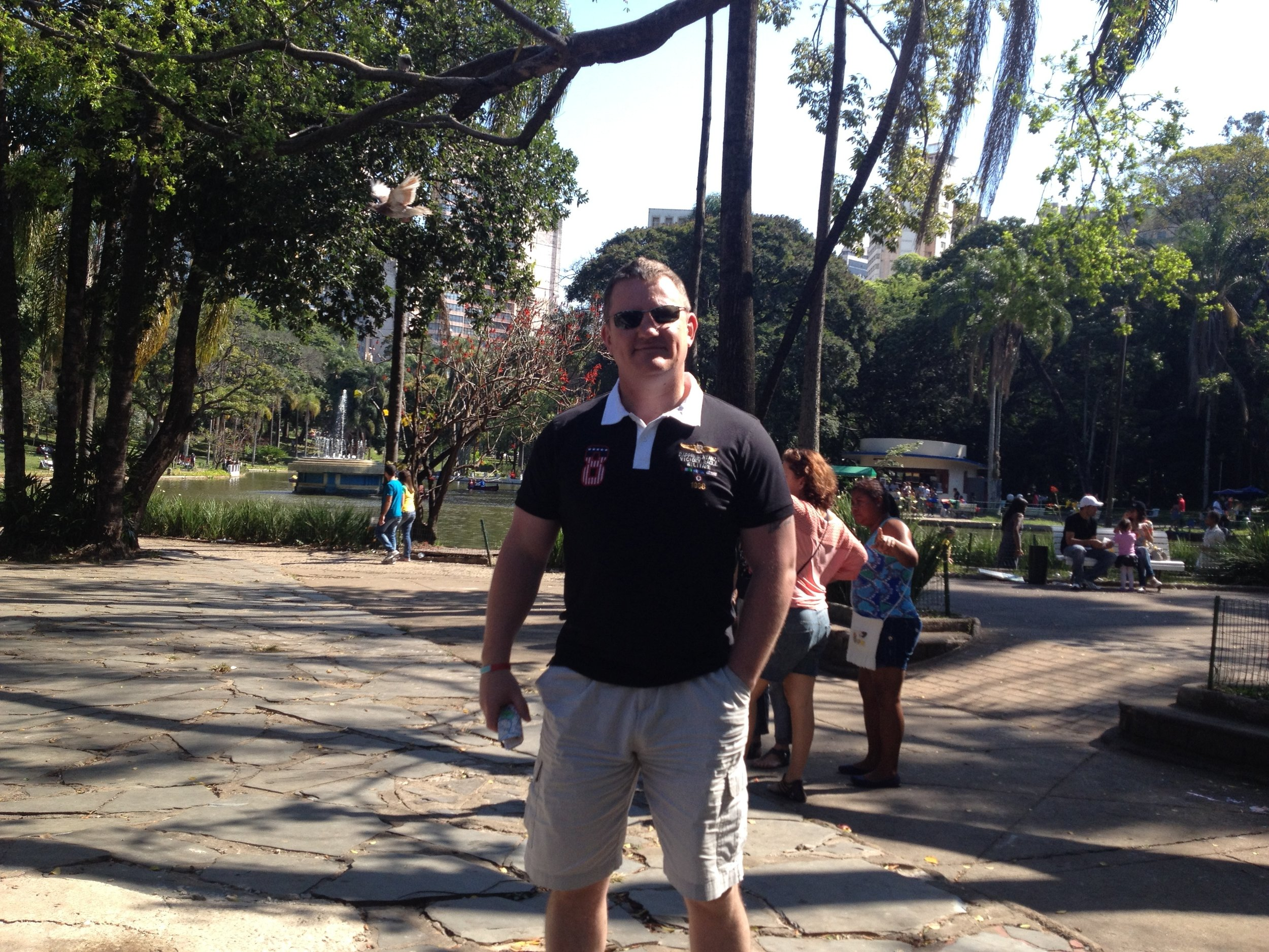 On Parrott watch in one of the parks in Belo Horizonte..