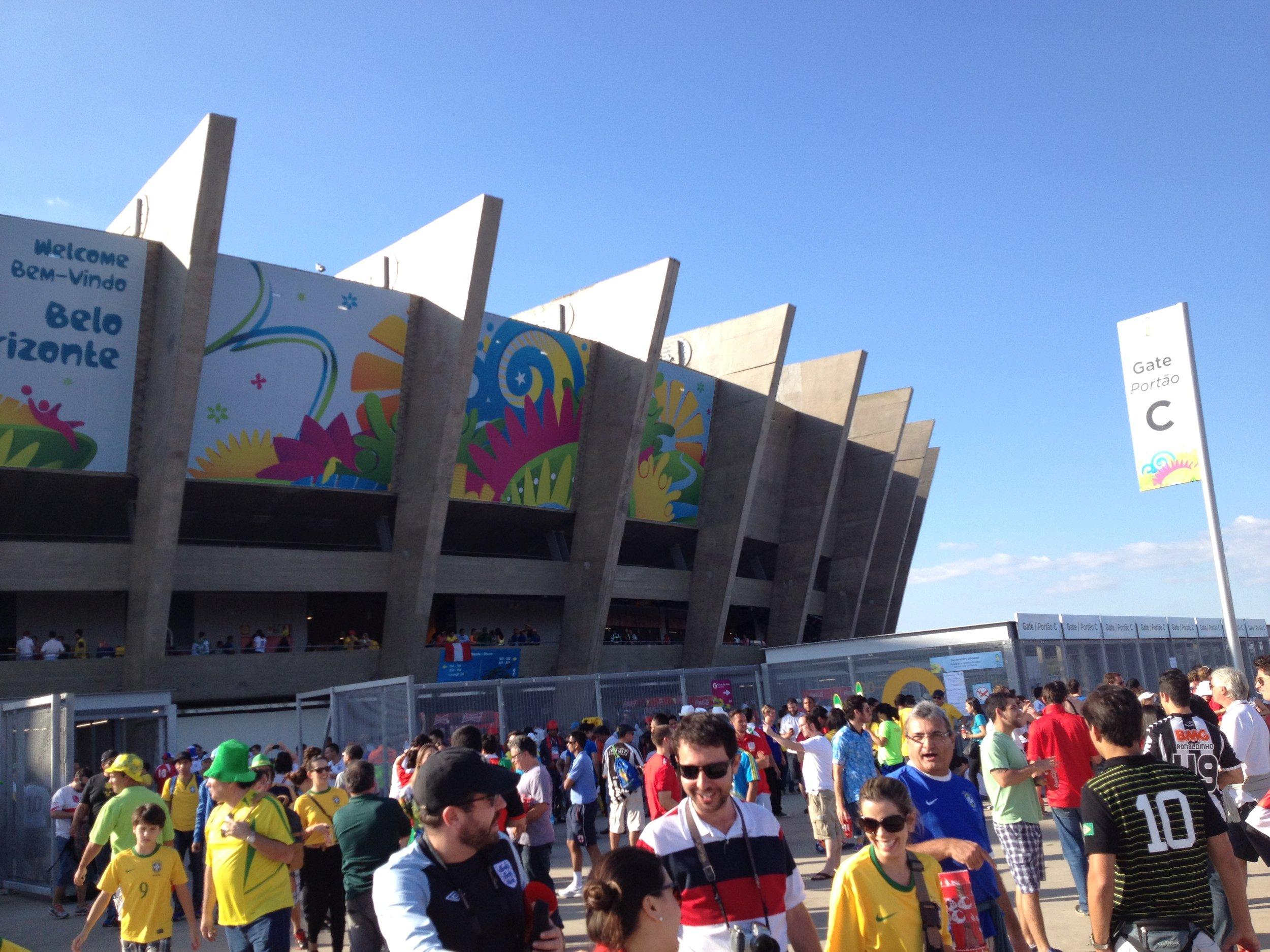 heading into the stadium..