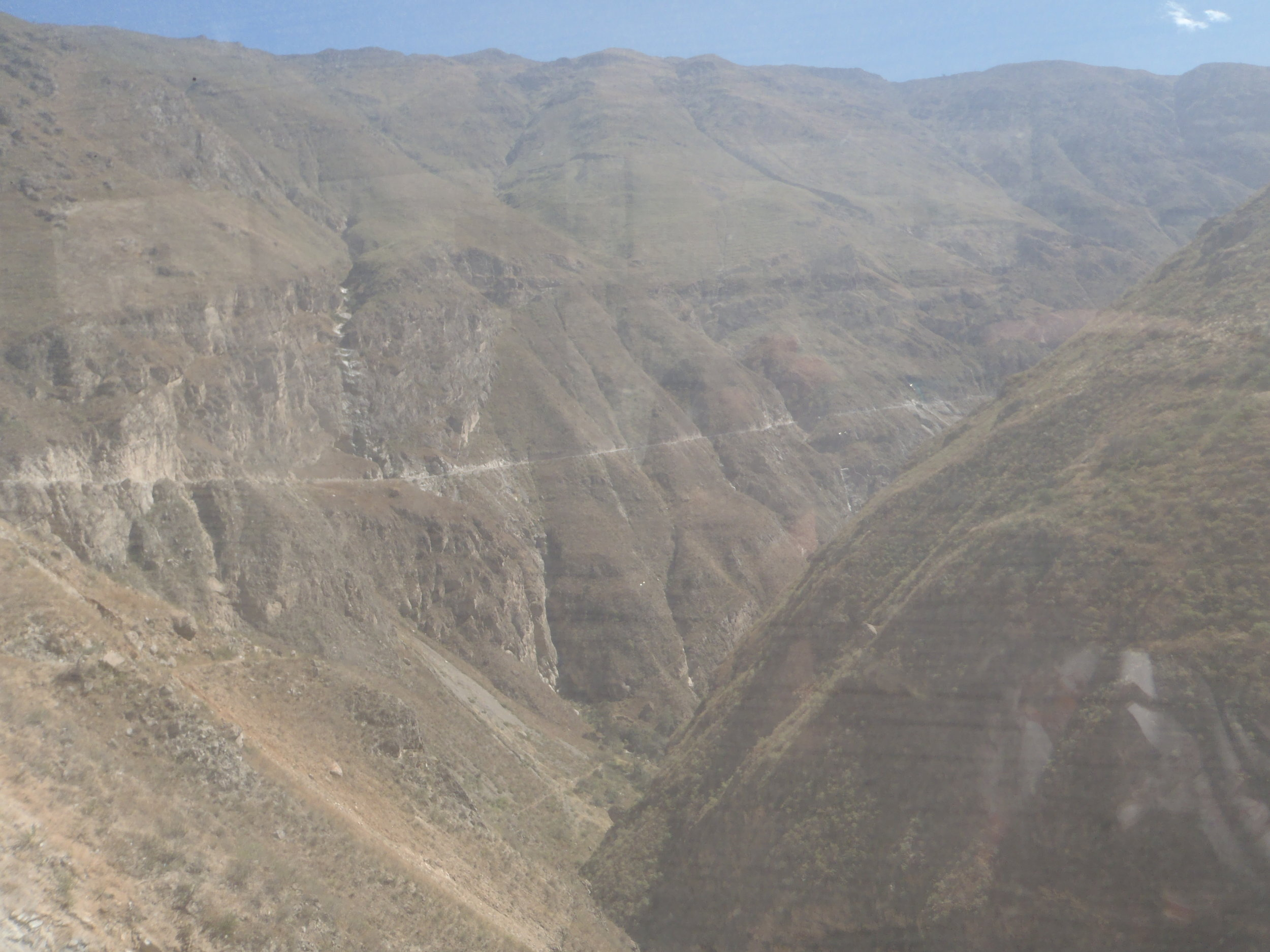 The Road to San Pedro are carved out of the hillsides
