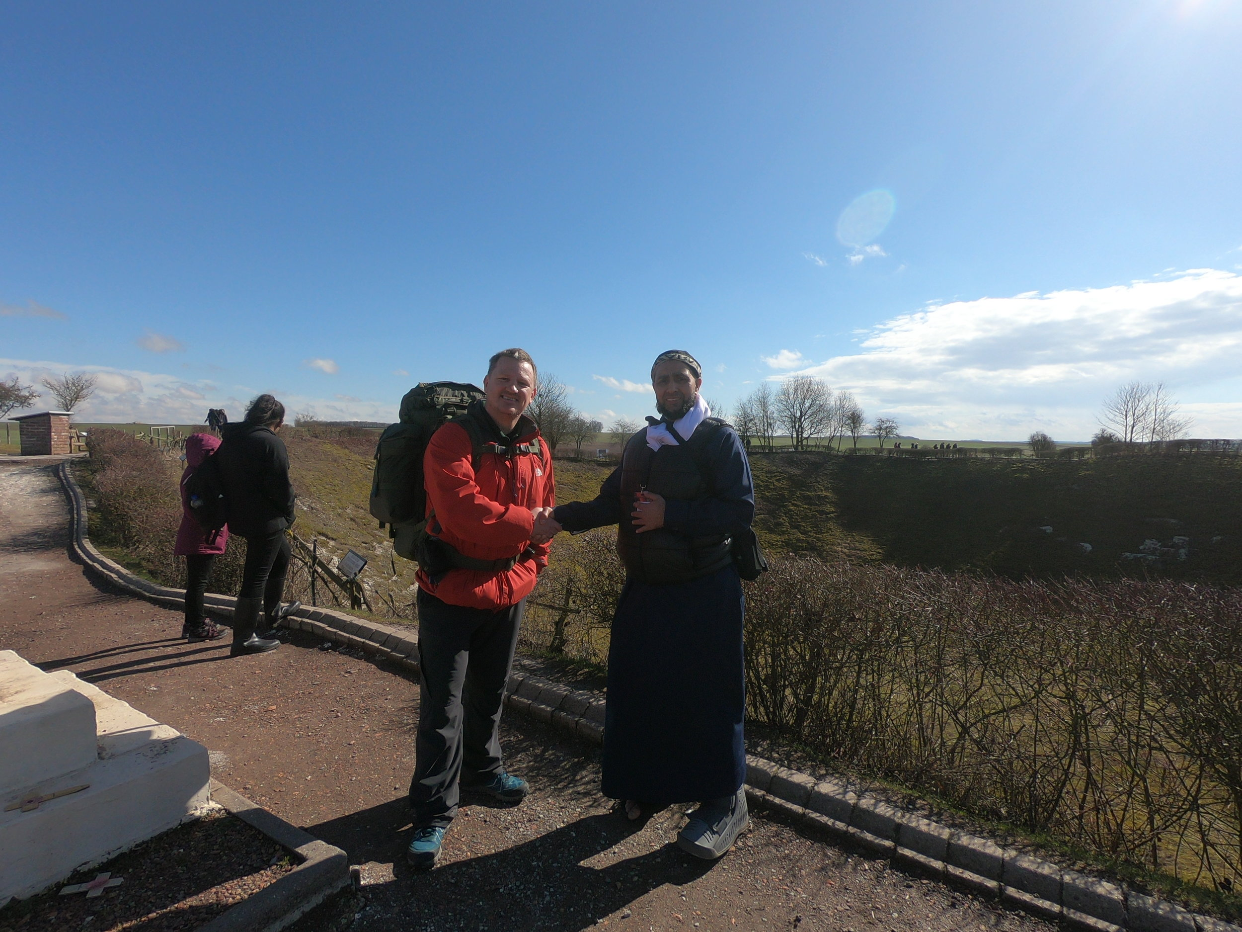 With 'Jaz' at the 'Lochnagar' Crater.