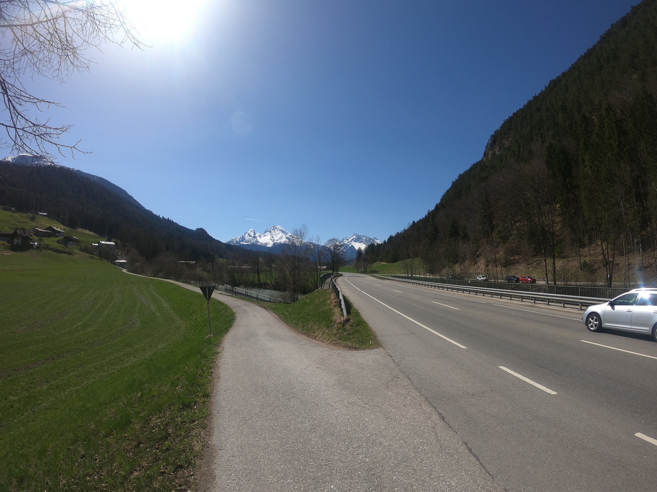 following the River Path down the Valley from Berchtesgaden.
