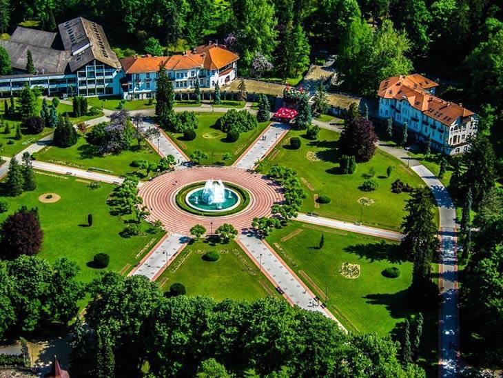 The hospital & Park at Banja Koviljaca