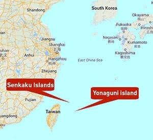 Location Of Yonaguni Island.
