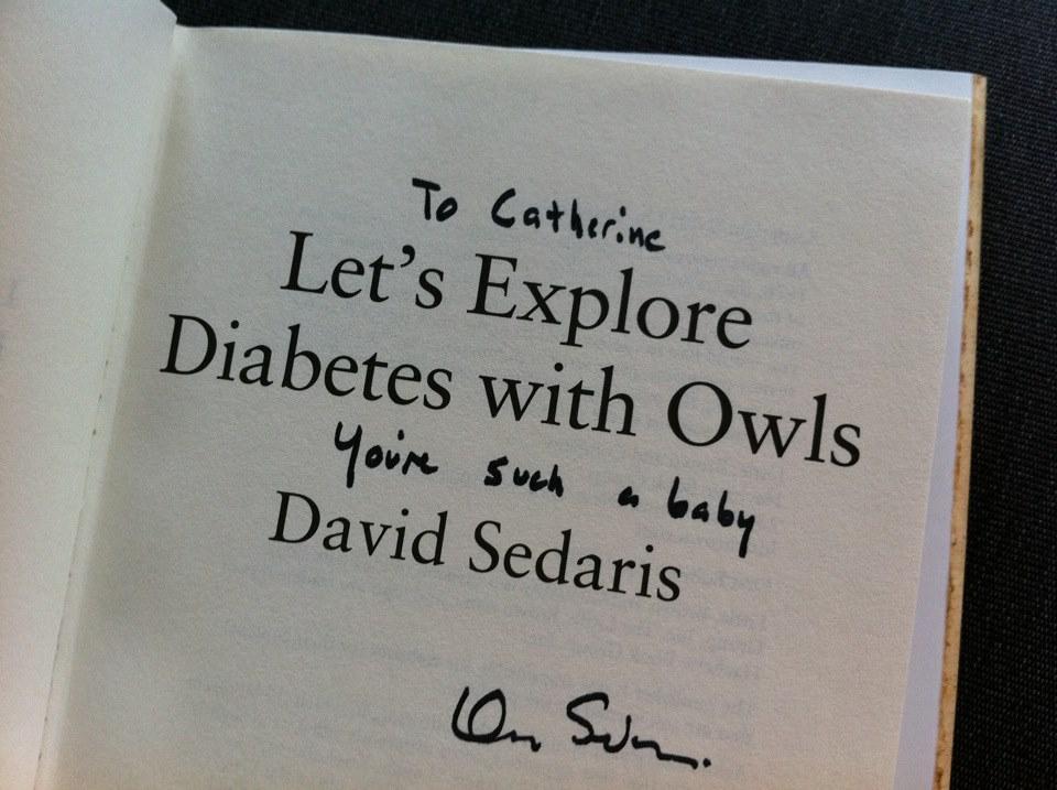 david sedaris signed book