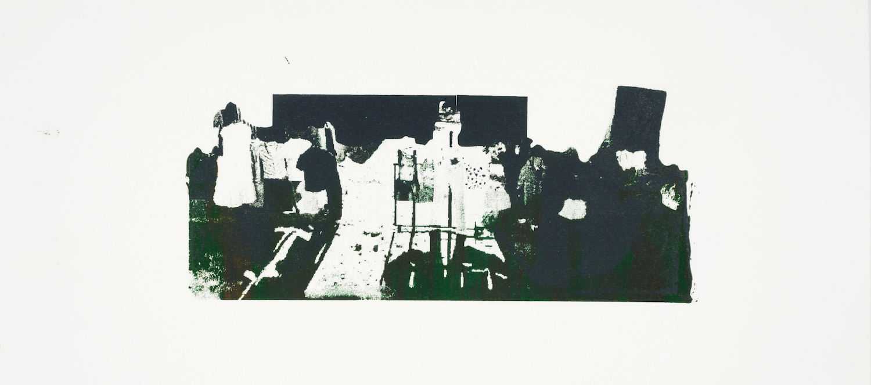 Fantasmas , Silk screen print, paper, oil ink, mounted 30×15 cm, 2015