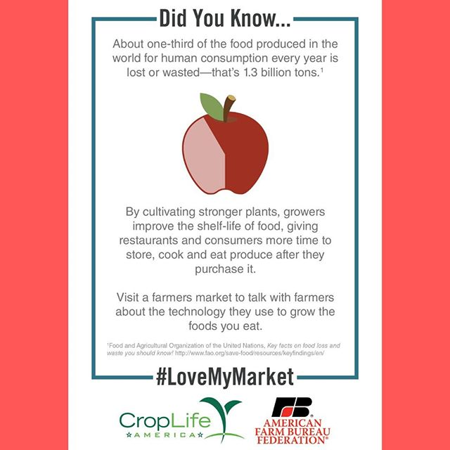 DYK #farmers help fight #foodloss on the farm? Using #pesticides, growers are able to minimize the damaging effects of post-harvest disease. #StopFoodWasteDay