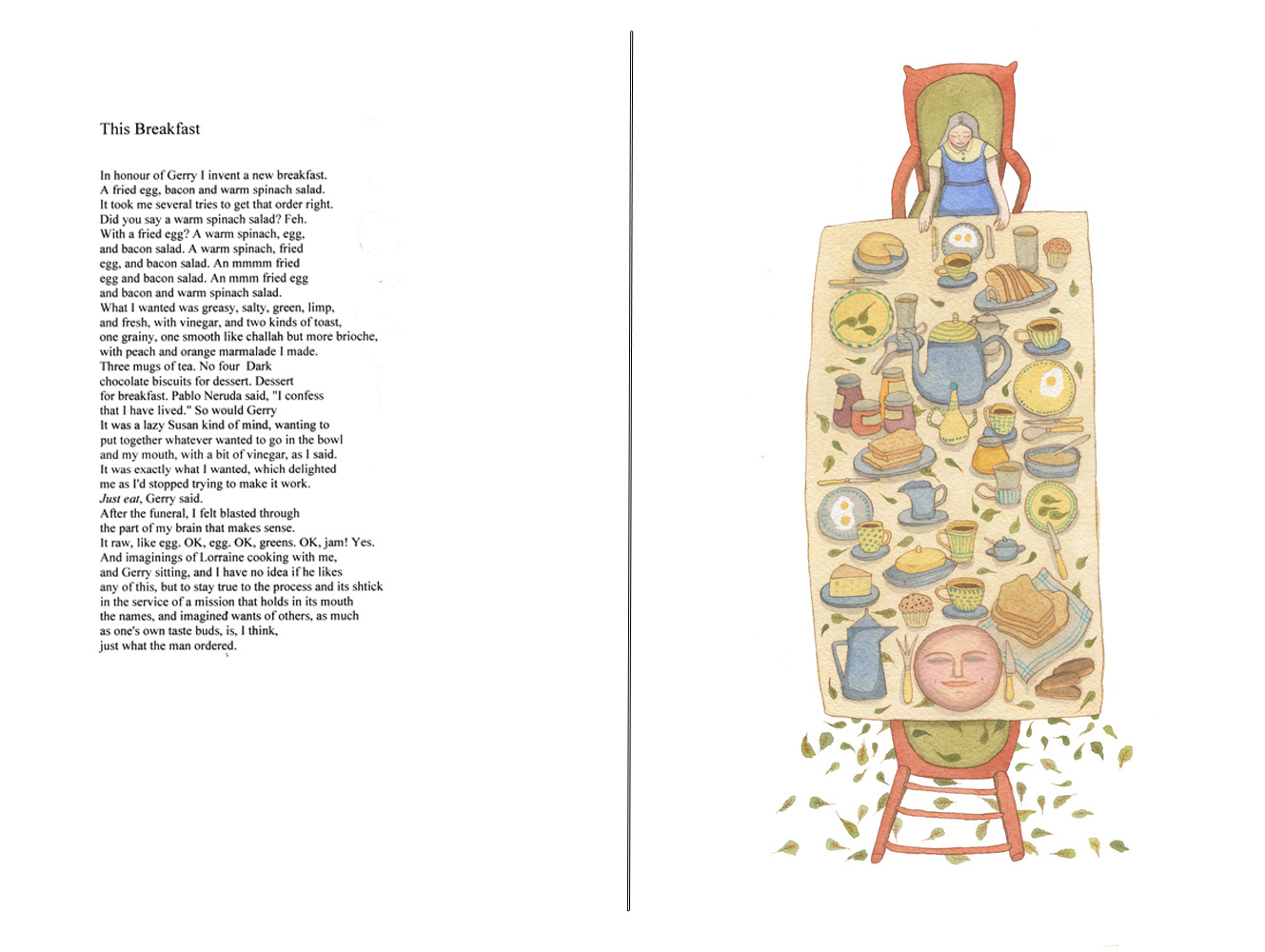 This Breakfast, Image by Yaara Eshet after poem by Ronna Bloom
